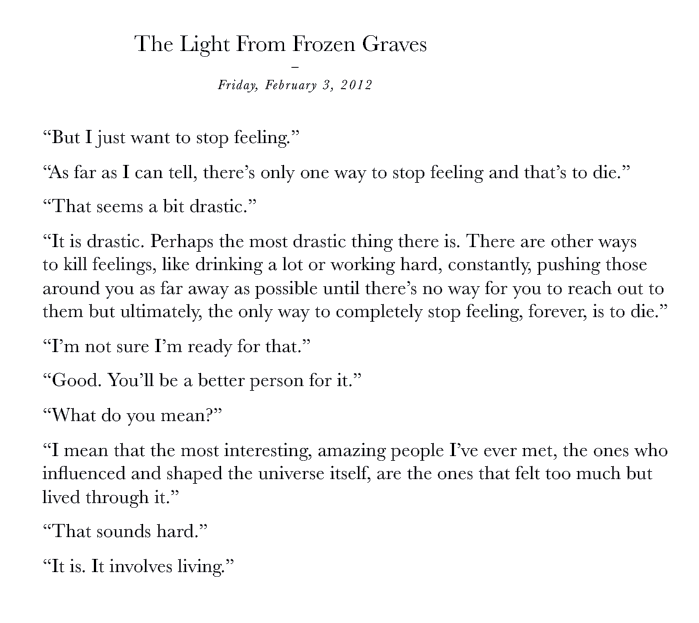 The Light From Frozen Graves